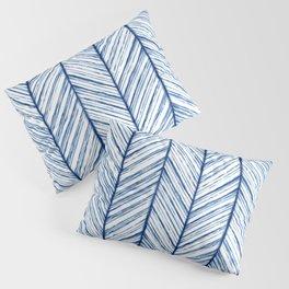 Shibori Herringbone Pattern Pillow Sham