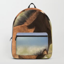 Watercolor Horse 10 Icelandic Pony, Höfn, Iceland, Com..posed Backpack