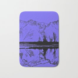 Knik River Mts. Pop Art - 1 Bath Mat