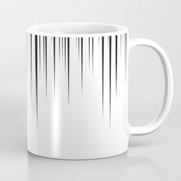 black lines background manga speed frame Coffee Mug