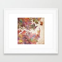 sydney Framed Art Prints featuring Sydney by MapMapMaps.Watercolors