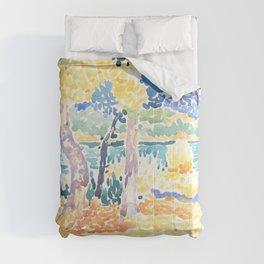 """Henri-Edmond Cross """"Pines on the Coastline"""" Comforters"""