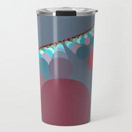 Floating Discs on Grey (B) Travel Mug