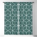 Cube Geometric 03 Teal by theoldartstudio