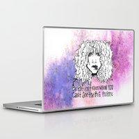 stevie nicks Laptop & iPad Skins featuring #STUKGIRL Stevie  by STUK DESIGNS