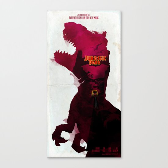Inspired Movie Poster #2: Jurassic Park (1993) Canvas Print