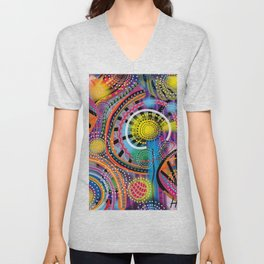 Biology of Lovers on a Rainy Night (Horizontal) Unisex V-Neck