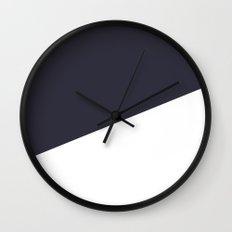 Urban Geometry Navy Blue + White Wall Clock