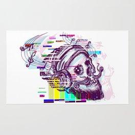 Human skull glitch Rug