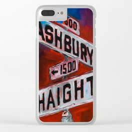 Haight and Hashbury Clear iPhone Case