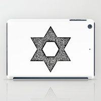 jewish iPad Cases featuring Star of David (Jewish star) by ZannArt Originals