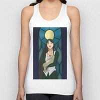 stained glass Tank Tops featuring Stained Glass by Tar Pit