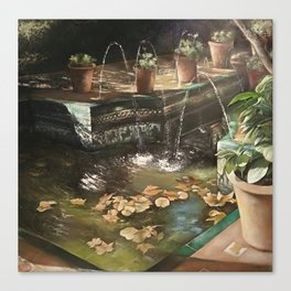 Andalusian garden of the house of the painter Sorolla in Madrid Canvas Print