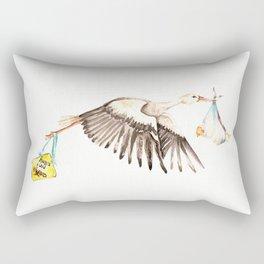 Baby on Bird Rectangular Pillow