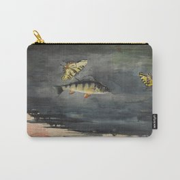 Vintage Winslow Homer Fish & Butterfly Painting (1900) Carry-All Pouch