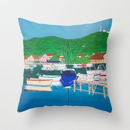 Agios Stefanos, Corfu Throw Pillow