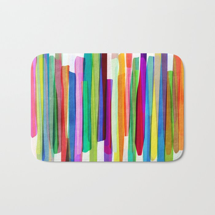 Colorful Stripes 1 Bath Mat