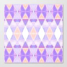 Art Deco Triangles Light Purple Canvas Print