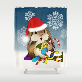 Currier & Bunnies: HO HO HO Shower Curtain