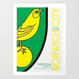 Norwich City 15/16 Art Print