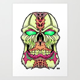 flesh head Art Print