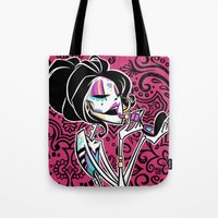 "makeup Tote Bags featuring MAKEUP by ""dfrnt"""