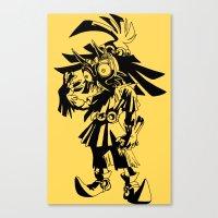majoras mask Canvas Prints featuring Skullkid / zelda / majoras mask by tshirtsz