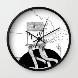 Walking House Wall Clock
