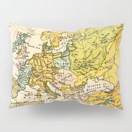 Europe in 1135 - Vintage Map Collection Pillow Sham