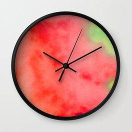 Abstract watercolor painting #8 Wall Clock