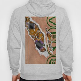 Ripped Paper Bag Circuit Board Hoody