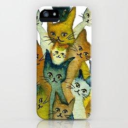 Kalamazoo Whimsical Cats iPhone Case