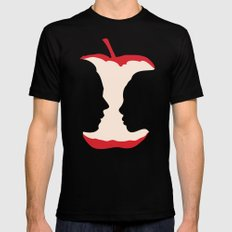 The apple of my eye MEDIUM Mens Fitted Tee Black