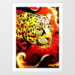 Safari Heat Art Print