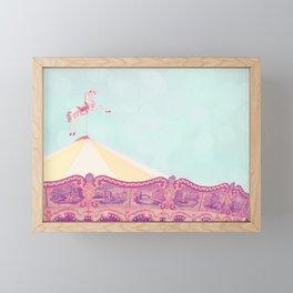 Carousel Dream Mint Framed Mini Art Print