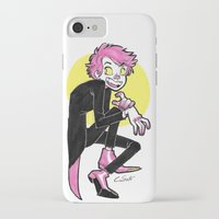 hot pink iPhone & iPod Cases featuring Hot Pink by Halfy