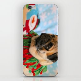 Christmas Pug 2 iPhone Skin