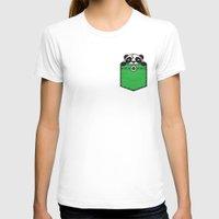 pocket T-shirts featuring Pocket Panda by Steven Toang