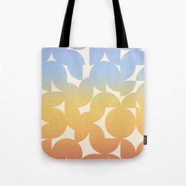 Abstract Shapes - Retro Rainbow Tote Bag
