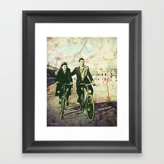 Nona and Nono somewhere in France Framed Art Print