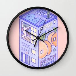 Peach Motel Wall Clock