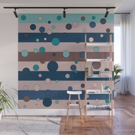 Lined bubbles  Wall Mural