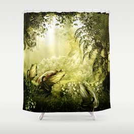 """Catch (Forest)"" Shower Curtain"