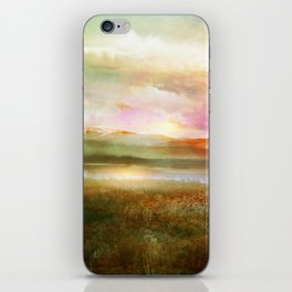 Sunset and flowers iPhone Skin