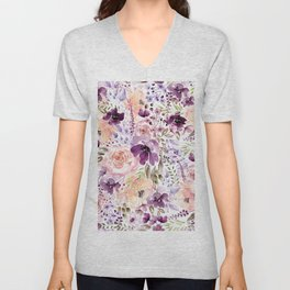Floral Chaos Unisex V-Neck