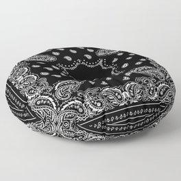 Bandana Black & White Floor Pillow