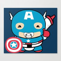 avenger Canvas Prints featuring Littlest Avenger by OneWeirdDude