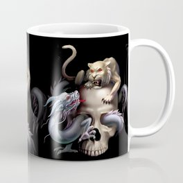 white tiger, dragon and skull Coffee Mug