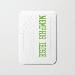 Memphis Irish prints by Howdy Swag graphic Bath Mat