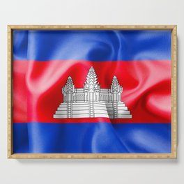 Cambodia Flag Serving Tray
